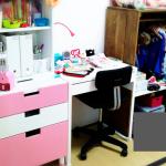 学習机はまだいらない!小学1年生の自宅学習はリビングで。