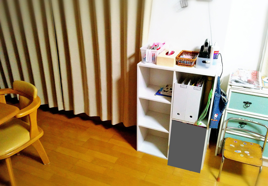 学校用品の収納棚