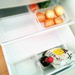 空っぽな冷蔵庫が、さらに空っぽに。さすがに買い物行きました。