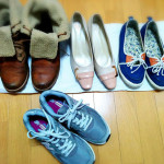 靴の数は4足のみ。着まわしよりも、機能重視で、基本的に履きつぶしています。