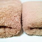 お気に入りの肌触り。トゥシェのタオルは1度洗うとふわふわ。アーモンド色を購入。