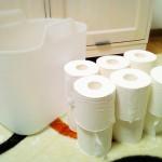 【無印良品】トイレットペーパーが12ロール入るランドリーボックス。