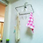 【無印良品】キッチンタオルはアルミ角型ハンガー小でしっかり干す!
