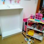 【IKEA】おもちゃ収納をキレイにしたい。小さめBILLYでしっかり収納する。