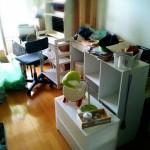 汚部屋、再び?終わらない片付け。また不要な家具や収納グッズがたくさん出てきました