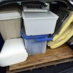 荷台いっぱいの大量断捨離。使わなくなった収納グッズ、手放しました。