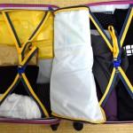 1ヶ月の帰省でも3泊4日分の荷物です。小さなスーツケース2つでフレキシブルに生活しよう