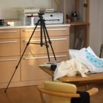 仕事のために自宅撮影会。モノを減らしたので、撮影できる空間がすぐに作り出せます。