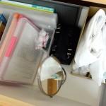 ゴミ袋をきれいに収納したい。ファイルボックスを使って立てて収納しました。