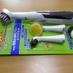掃除の時短アイテム。電動歯ブラシのようなブラシでガンコな汚れをそぎ落とす!