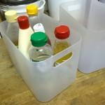 調味料をケースに入れてひとまとめにしたら、管理もラクになって時短になりました!