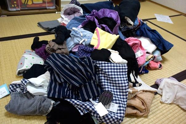 子ども服の片付け祭り