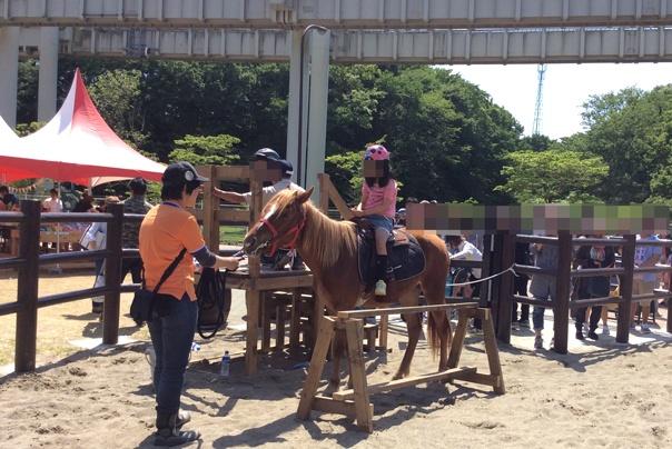 乗馬体験中