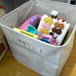 子どもが片付けやすい環境づくり。無印のポリエステル綿麻混ソフトボックスに投げ込み収納