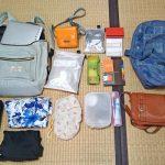 女性ひとり旅の荷物はミニマムに。ダイソーのクリアポケットが小分け収納に大活躍です