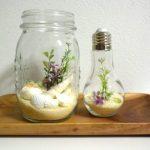 100均アイテムで作る造花のテラリウム。じぶんの世界観を小瓶に詰めて飾れる手作りミニ雑貨