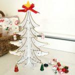 大きなツリーは、ない。324円の素敵なミニクリスマスツリーでちいさく飾る。ちいさく楽しむ