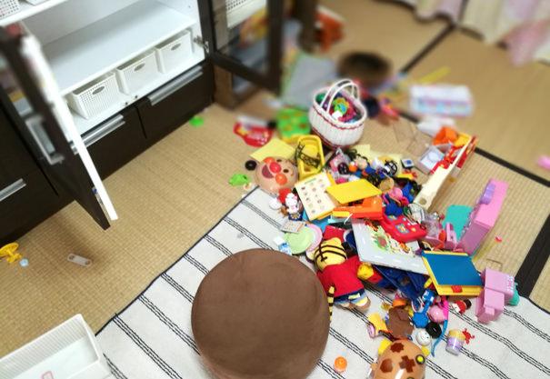 おもちゃの収納改善