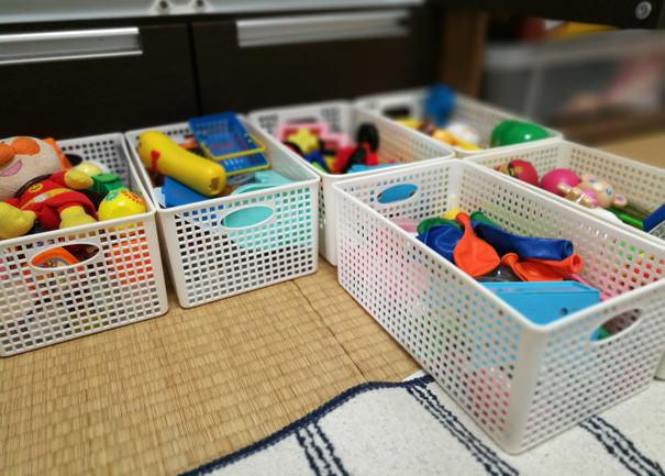 おもちゃをざっくりと収納