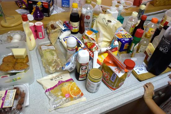 冷蔵庫の中のもの
