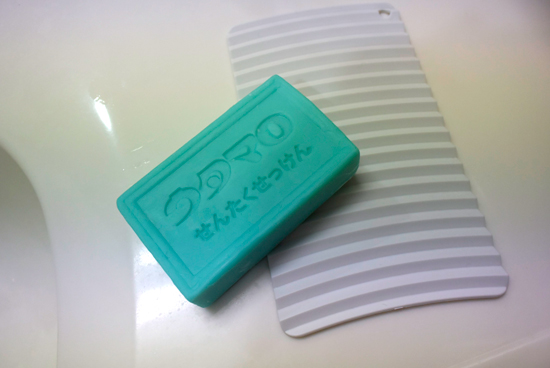 ウタマロ石鹸と無印良品の洗濯板