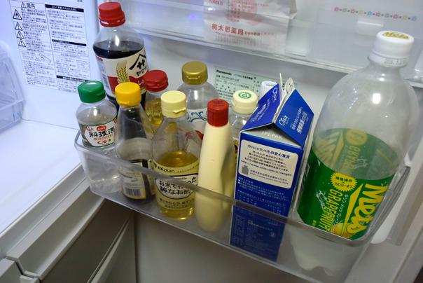冷蔵庫の調味料