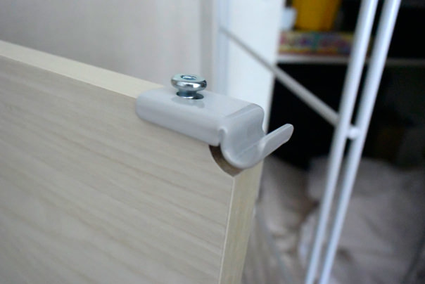 棚板の接続部